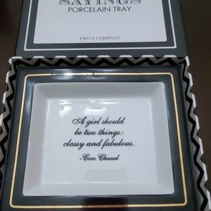 Coco Chanel classy and fabulous quote jewelry tray